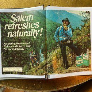 Vintage 70s Sport Magazine Salem Ad Poster